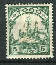 GERMAN COLONIES; TOGO 1905 Wmk. early yacht type mint hinged 5pf. value