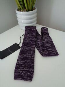 BNWT Ted Baker Fleknit Purple Knitted 6cm Narrow Tie
