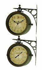 """Infinity Indoor/Outdoor 8"""" The Charleston Double Sided Clock & Thermometer - 124"""