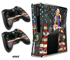 Skin Decal Wrap for Xbox 360 Slim Gaming Console & Controller Xbox360 Slim WW2