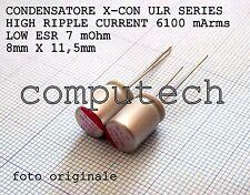 1000uF 6,3V 105°C Condensatori a Stato solido polimerici ULR serie LOW ESR 2pz