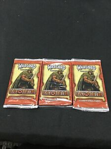 Warlord Saga Of The Storm Epic Edition Booster Packs x3 (Sealed, OOP)