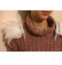 White Feather And Silver Star Shoulder Pads epaulettes