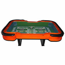 "SALE 93"" craps table; green or blue felt, great for home use or poker game room"