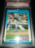 1987 Fleer Update Glossy Greg Maddux Rookie #U-68 Cubs Braves RC PSA 9 MINT 🔥📈