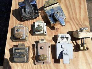 Vintage old Retro 1950's 60's Rim Door Security Locks Sold Singular 1