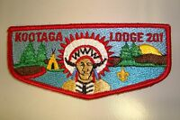 OA KOOTAGA LODGE 201 MERGED 527 618 AREA COUNCIL SCOUT PATCH RED SERVICE FLAP