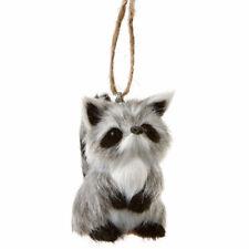 Furry Raccoon Ornament