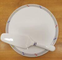 Daniel Hechter PLATINUM PLUS Cake Plate Server Pie Dessert CQ012 Bone China