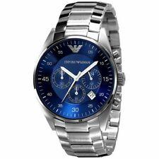 Emporio Armani AR5860 Chrono Blue Dial Stainless 43mm Men's Watch