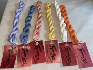 6 Impressions By Caron 50% Silk & 50% Wool Thread 36 yds. 33m Solid Color Italy
