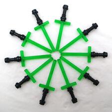 Green Minifigures Cross Lightsaber with Black Hilt Accessories 10 Pcs #More