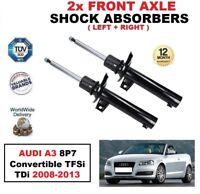 2X Anteriore Ammortizzatori Set per Audi A3 8P7 Convertible TFSI Tdi 2008-2013