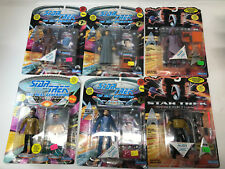 STAR TREK figure lot  Playmates Set of 6  Riker Work Guinan Geordi Data