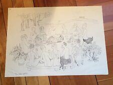 Vintage Art signed Mouton After Dinner Speeches! Centaur Mythological Hybrid
