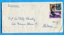 1956 P.A.DEM.£.50 + SIRAC.£.5 e £.20 ann.PISA 03.12.56  (257911)