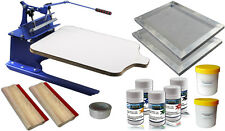 1 color Screen Printing Kit Simple Printer & Materials Hand Tool Press Equipment