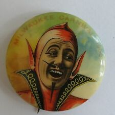 Antique Red Devil pinback antique 1900 Milwaukee carnival button Whitehead