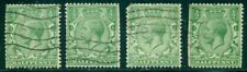 Great Britain Sg-418a, Scott # 187a, Used, Sw Wm, 4 Stamps, Faults, Great Price!