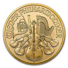 2017 1/2 oz Gold Austrian Philharmonic Coin .9999 Fine Brilliant Uncirculated BU