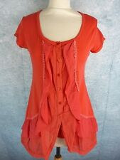 DECA 03322 Robe Taille 1 / 36 FR - Rouge - Stretch - Manches courtes