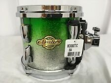 """Pearl Masters MCX 8"""" Mounted Tom/Lime Sparkle Fade/Finish #364/Maple Shell"""
