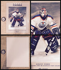 Oilers Csorba Grant Fuhr Goalie Litho Poster 1984-85 Stanley Cup Collection