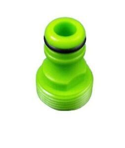 "Plastic Garden Tap Hose Pipe Connector Adaptor Male screw  3/4"" BSP ABS"