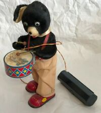 ADORABLE VINTAGE TOY DRUM-PLAYING WALKING  BEAR BATTERY OPERATED