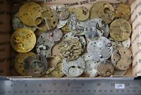 30 Antique Pocket Watch Plates (1055) Mechanisms Movements for Parts or Repair