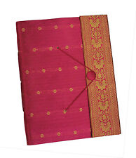 Brand New Paper High Dry Mount Pink or Cerise Sari Photo Album Black Pages