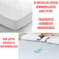 Coprimaterasso Impermeabile Igienico Spugna di Cotone e PVC Sanitario Letto 3019