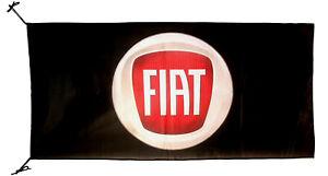 FIAT-FLAG BLACK BANNER LANDSCAPE 5 X 3 FT 150 X 90 CM