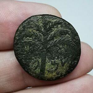 RARE Judea Simon Bar Kochba Revolt. 132-135 A.D. Middle Bronze Coin 22mm 10,41gr