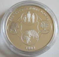 Benin 1000 Francs 1993 Protect Our World Miteinander Leben Silber