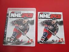 2K Sports NHL 2K9 Ps3 Perfetta 1A Stampa Italiana Con Manuale Disco 0 Segni