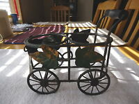 "Vintage Type Of 2 Candle Holder Cart "" AWESOME CANDLE HOLDER """