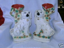 A pair of Staffordshire dog vases Circa 1870