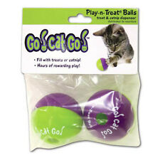 OUR PETS GO CAT GO PLAY N TREAT BALL 2PK EXERCISE INTERACTIVE FREE SHIPPING USA