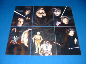 TOPPS STAR WARS GALAXY ETCHED FOIL CARDS SERIES 4, 1-6