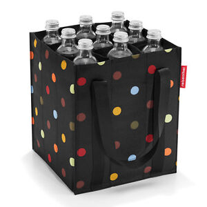 reisenthel shopping bottlebag black dots Flaschentasche