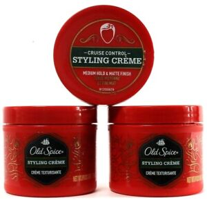 3 Count Old Spice Cruise Control Medium Hold Matte Finish Styling Crème 2.64 oz