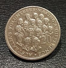 2003 Australia's Volunteers Making a Difference 20 Twenty Cent Coin