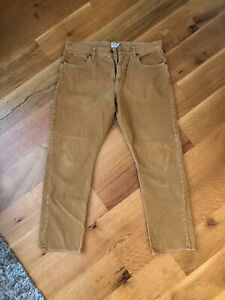 Honey Gold J Crew corduroy pants in size 36 x 32 Straight Leg