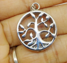 """""""Tree of Life"""", Cremation Urn Necklace Stainless Steel Urn Keepsake Silver Color"""