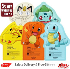 [Tony Moly] Pokemon Mask Pack Sheet 21g x 6pcs Random with Free Gift