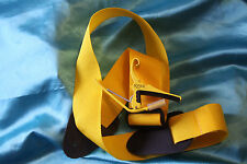 Kyser Quick-Change Yellow Capo for 6 String Guitar & Matching Strap, KG6Y/PLS-90