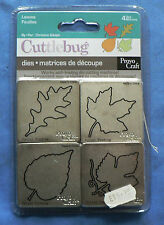 Cuttlebug 'Leaves' Four dies 37-1214 [He]