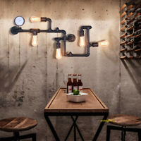 Industrial Retro Vintage Wall Sconce Water Pipe lamp 5 Light Dining Room Fixture