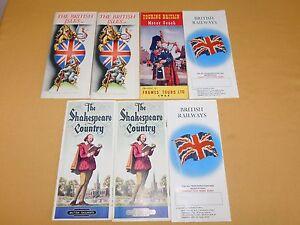VINTAGE RAILROAD   7 1953 BRITISH RAILWAYS BROCHURES TOURING BRITAIN MOTOR COACH
